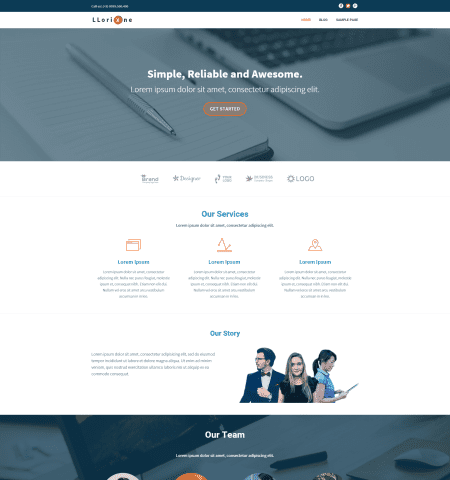 Bootstrap Blog Templates 11