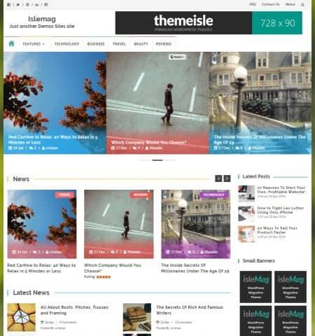 Bootstrap Blog Templates 541