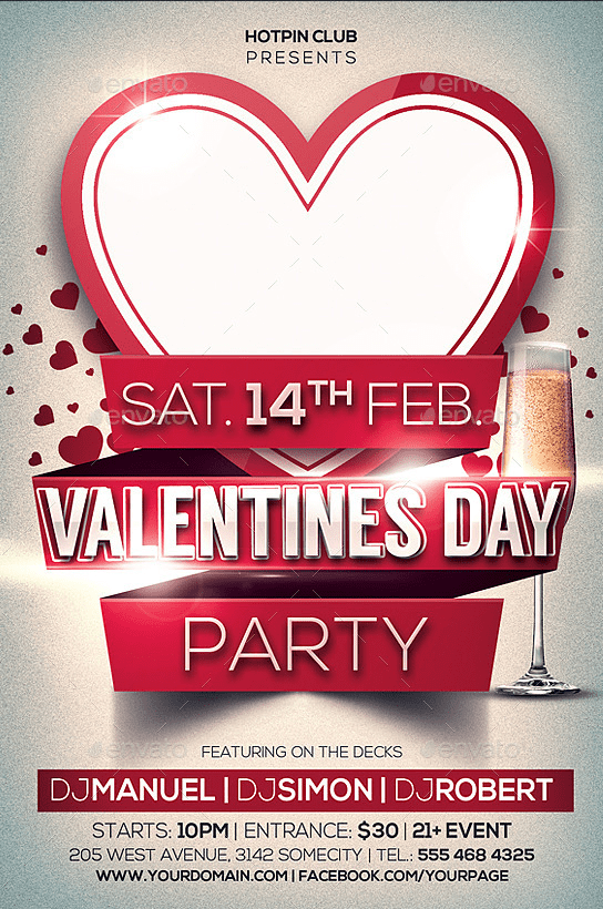 Free Valentine's Day Flyer Templates 10.64