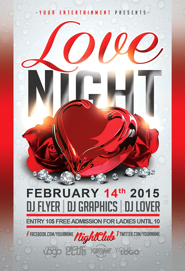 Free Valentine's Day Flyer Templates 146