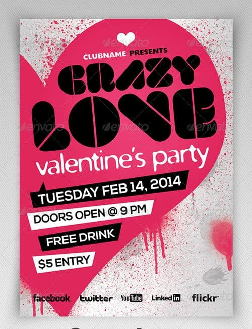 Free Valentine's Day Flyer Templates 941