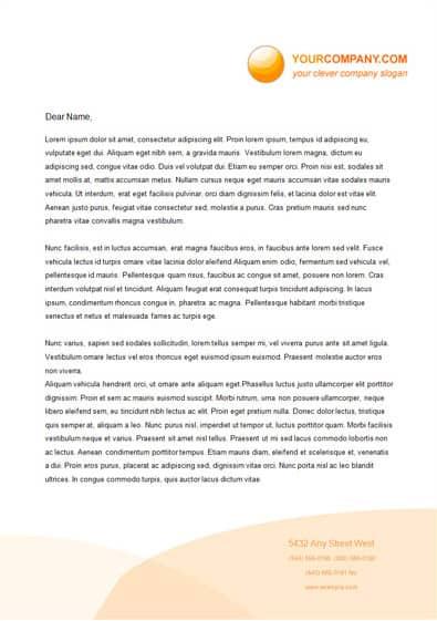 Letterhead Format In Word 74