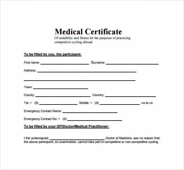6 medical certificate samples website wordpress blog yadclub Images