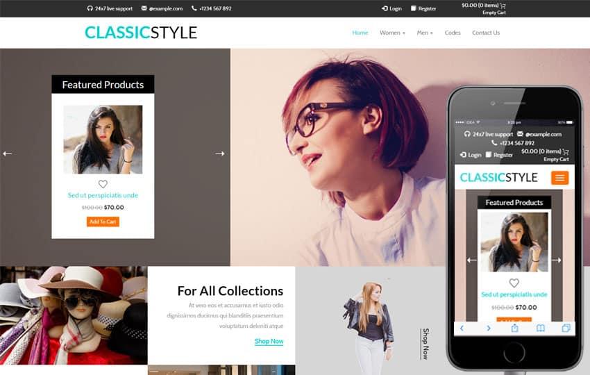 Responsive Ecommerce Website Templates Free 741