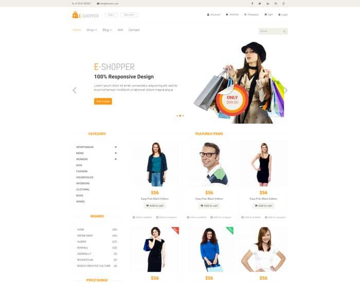 Responsive Ecommerce Website Templates Free 941