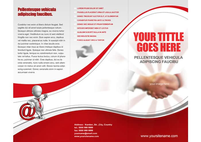 Tri Fold Brochure Templates 10.641