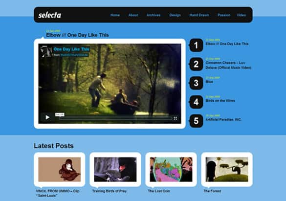 10 Free Video Website Templates - Wordpress Blogger Youtube