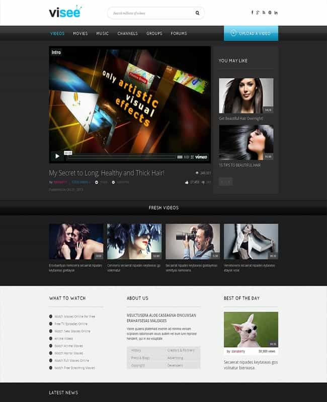 Video Website Templates Free 6461