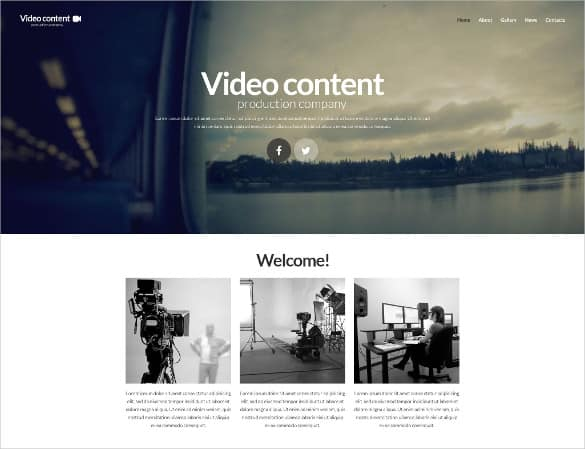 Video Website Templates Free 89641