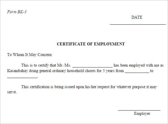 certificate format 641