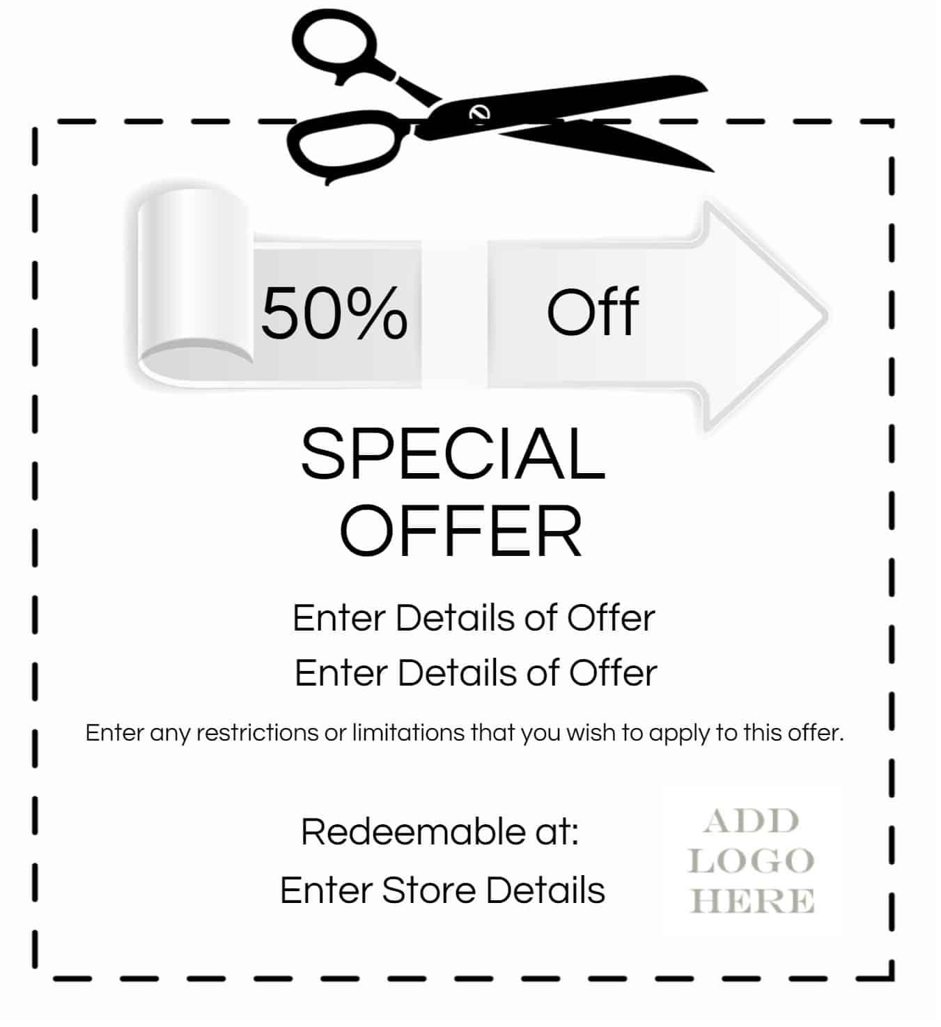 coupon template 3461