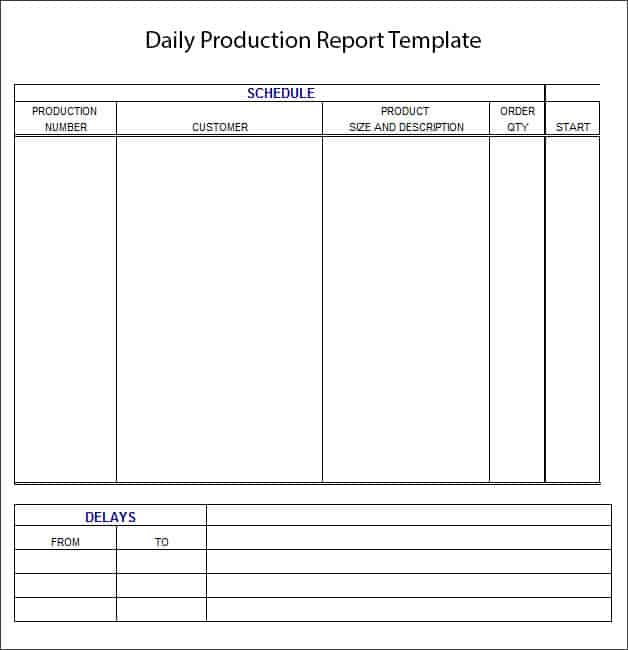 daily report template 164