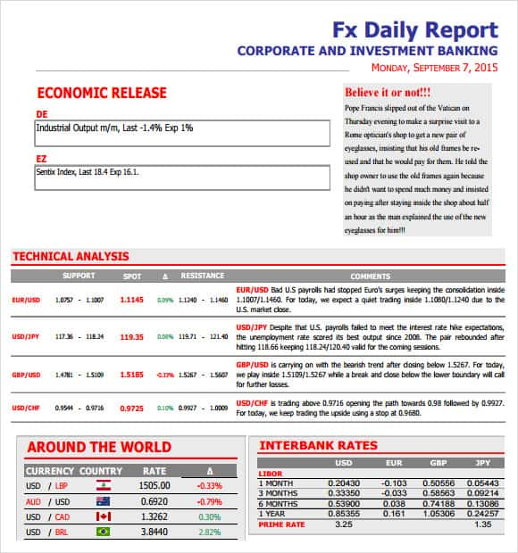 daily report template 61