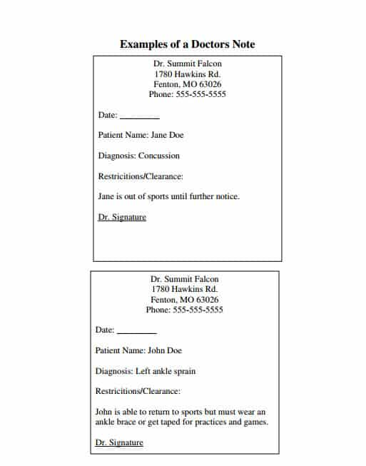 doctors note template 11