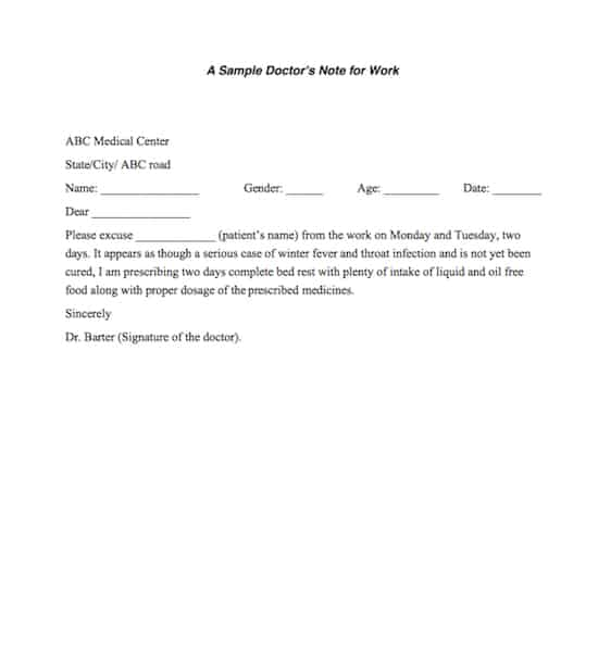 doctors note template 641