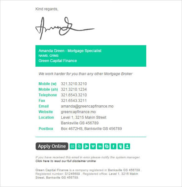 email signature template 941