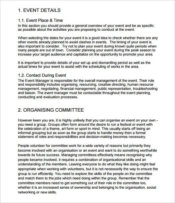 event itinerary template 10