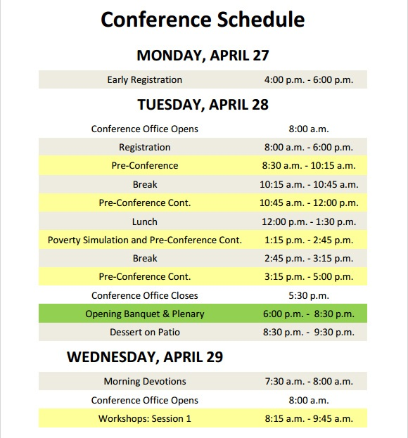event itinerary template 3461