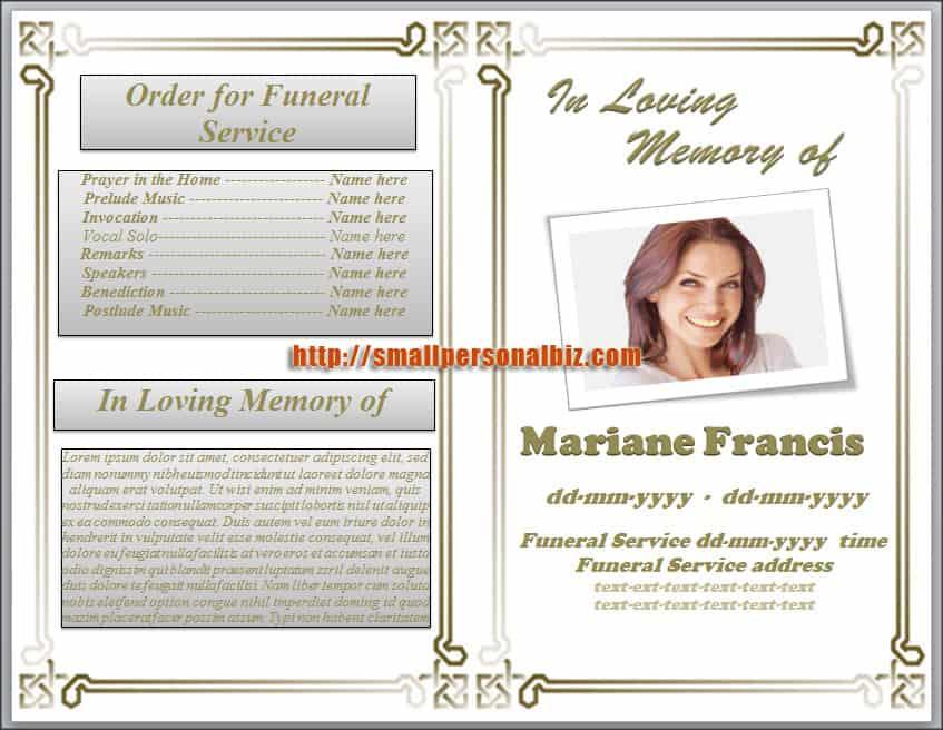 funeral program template 10