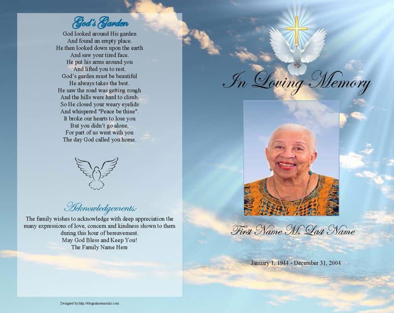 funeral program template 564