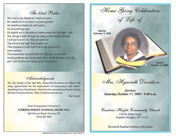 ... Funeral Program Templates Microsoft Word - Website, Wordpress, Blog
