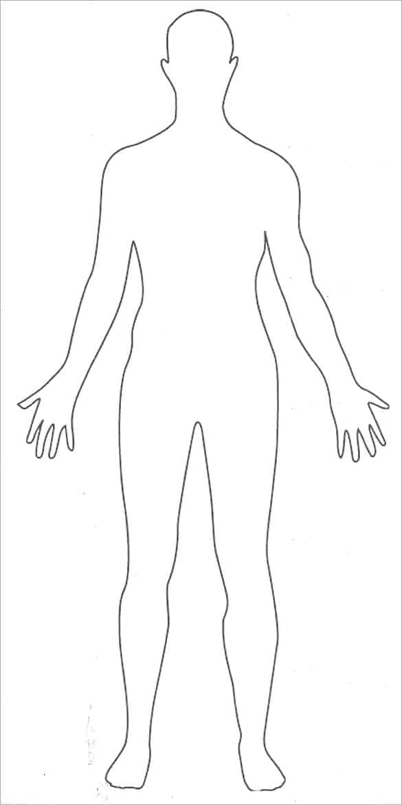 human body outline 34