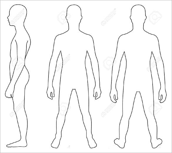 human body outline 4961