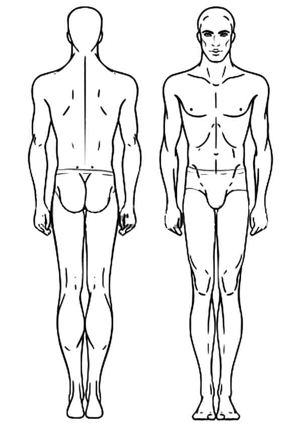 human body outline 7941
