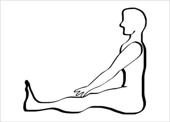 human body outline 841
