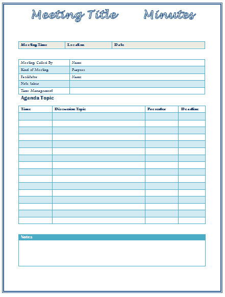 meeting minutes template 61