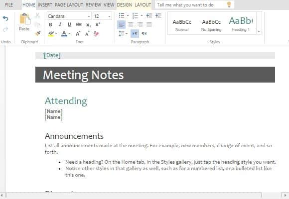 meeting minutes template 794