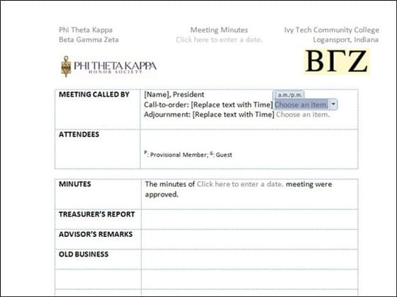 meeting minutes template 8941