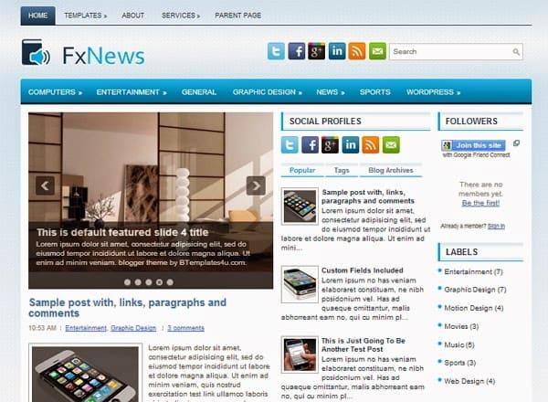 news blogger theme 6461
