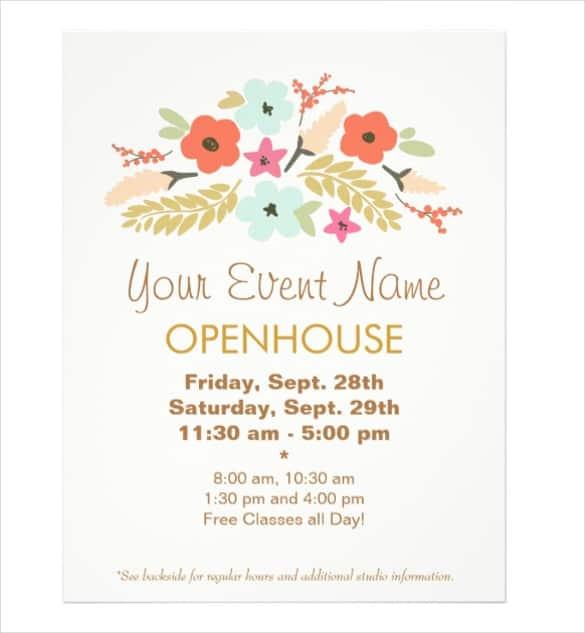 open house flyer 364