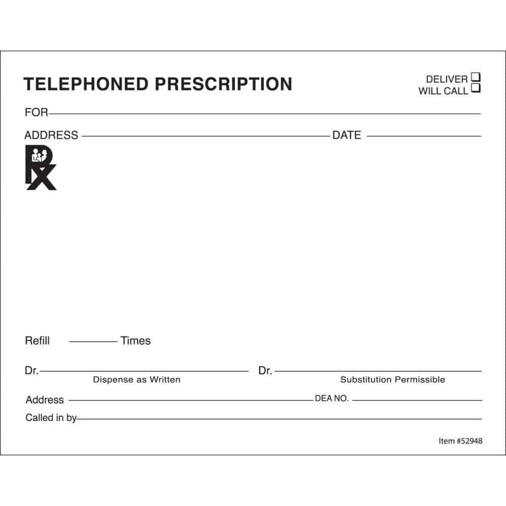 10 Prescription Templates Doctor Pharmacy Medical