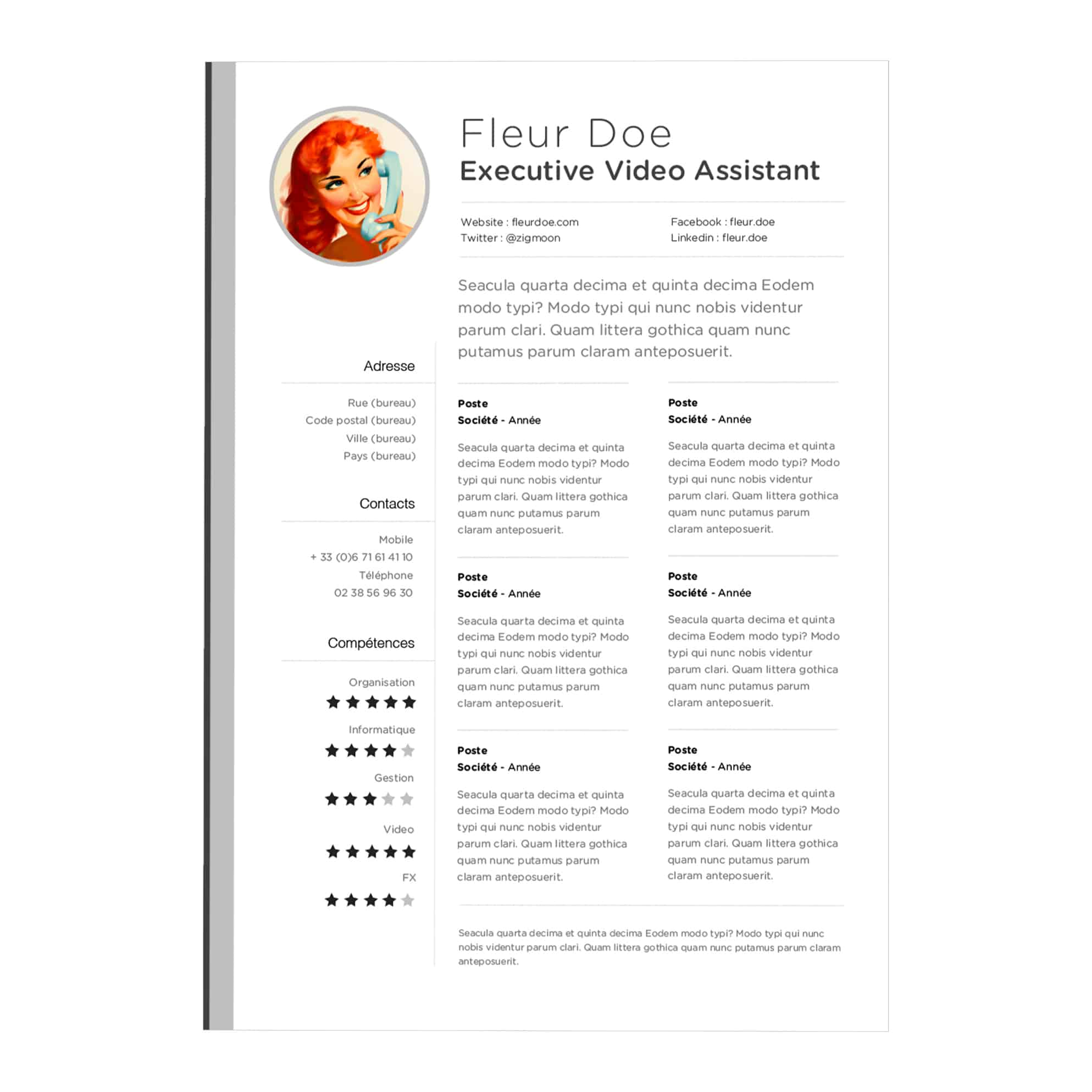 resume templates for mac 10