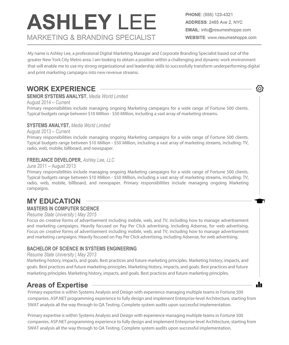 resume templates for mac 84