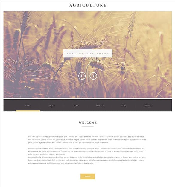 Agriculture Website Templates Free 234
