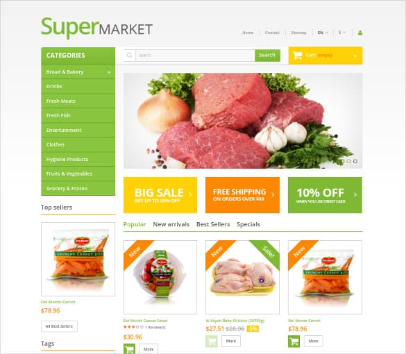 Online Grocery Shopping Website Templates 498