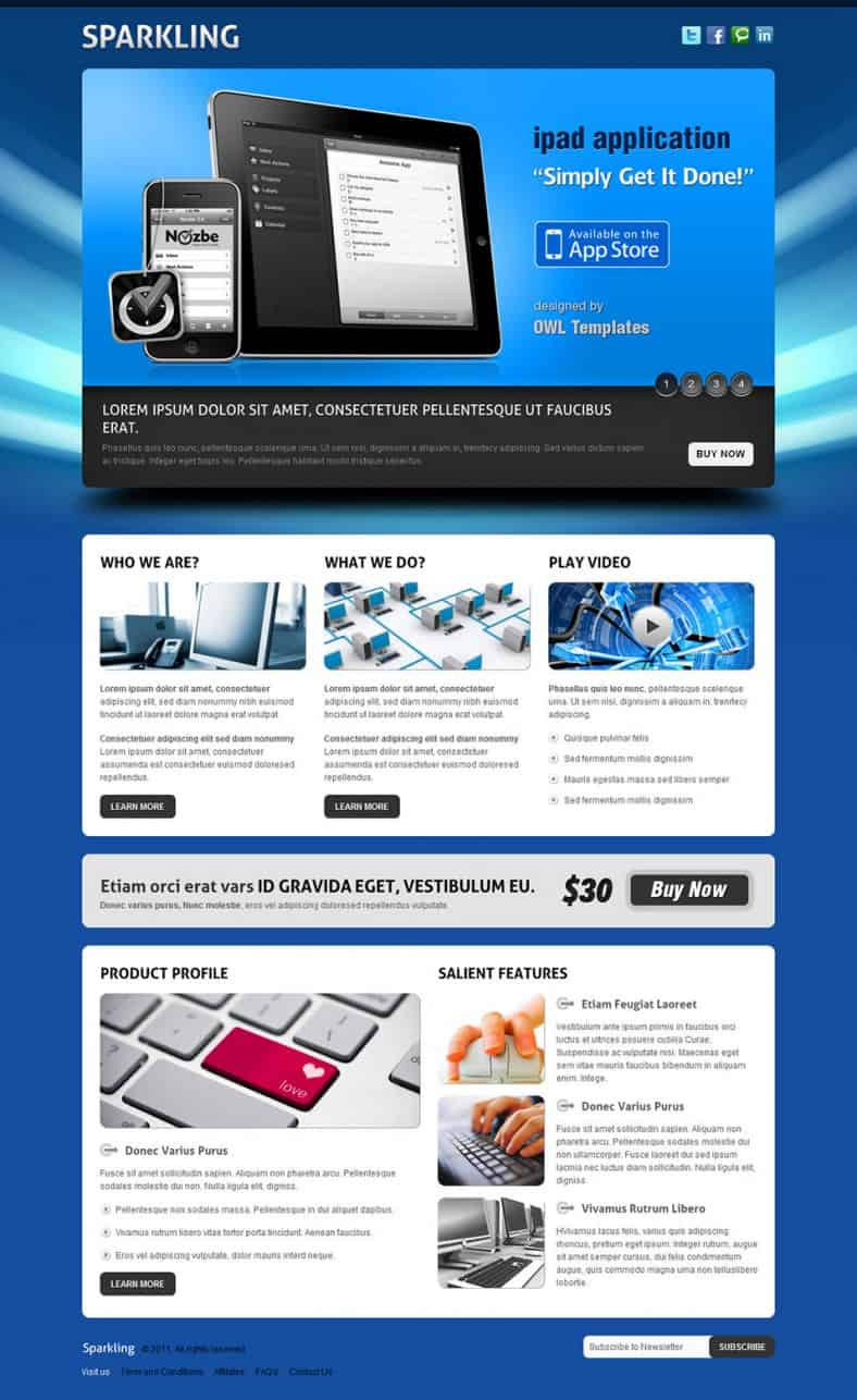 Video Landing Page Templates 496
