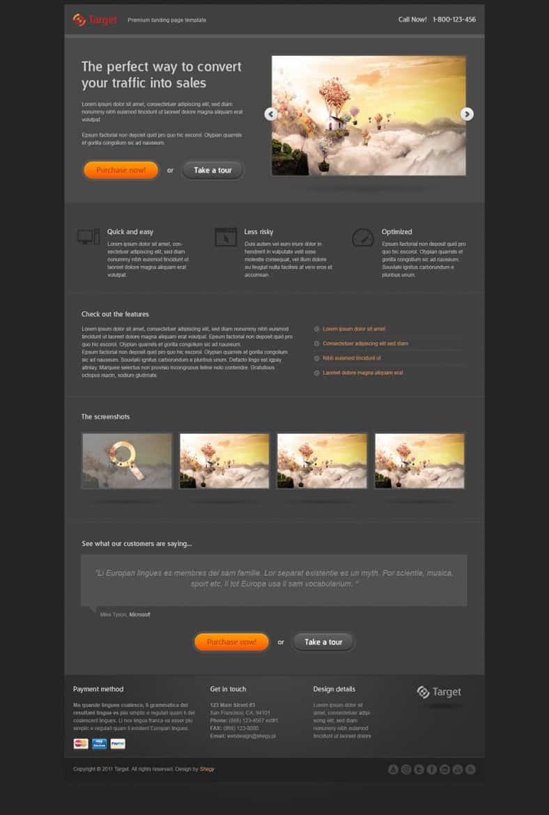 Video Landing Page Templates 541