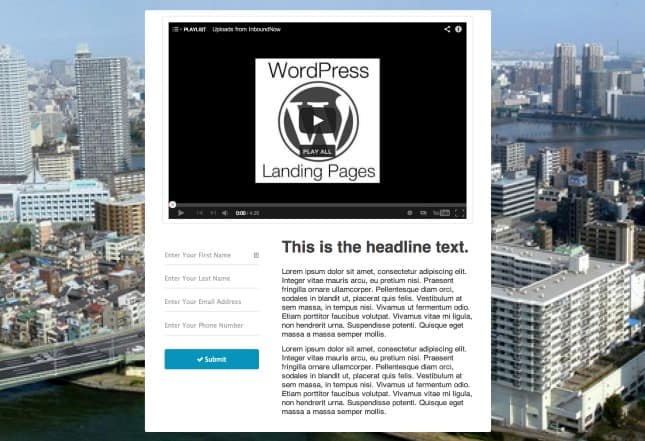 Video Landing Page Templates 61
