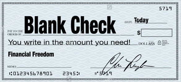 Blank Check Templates For Microsoft Word  Website Wordpress Blog