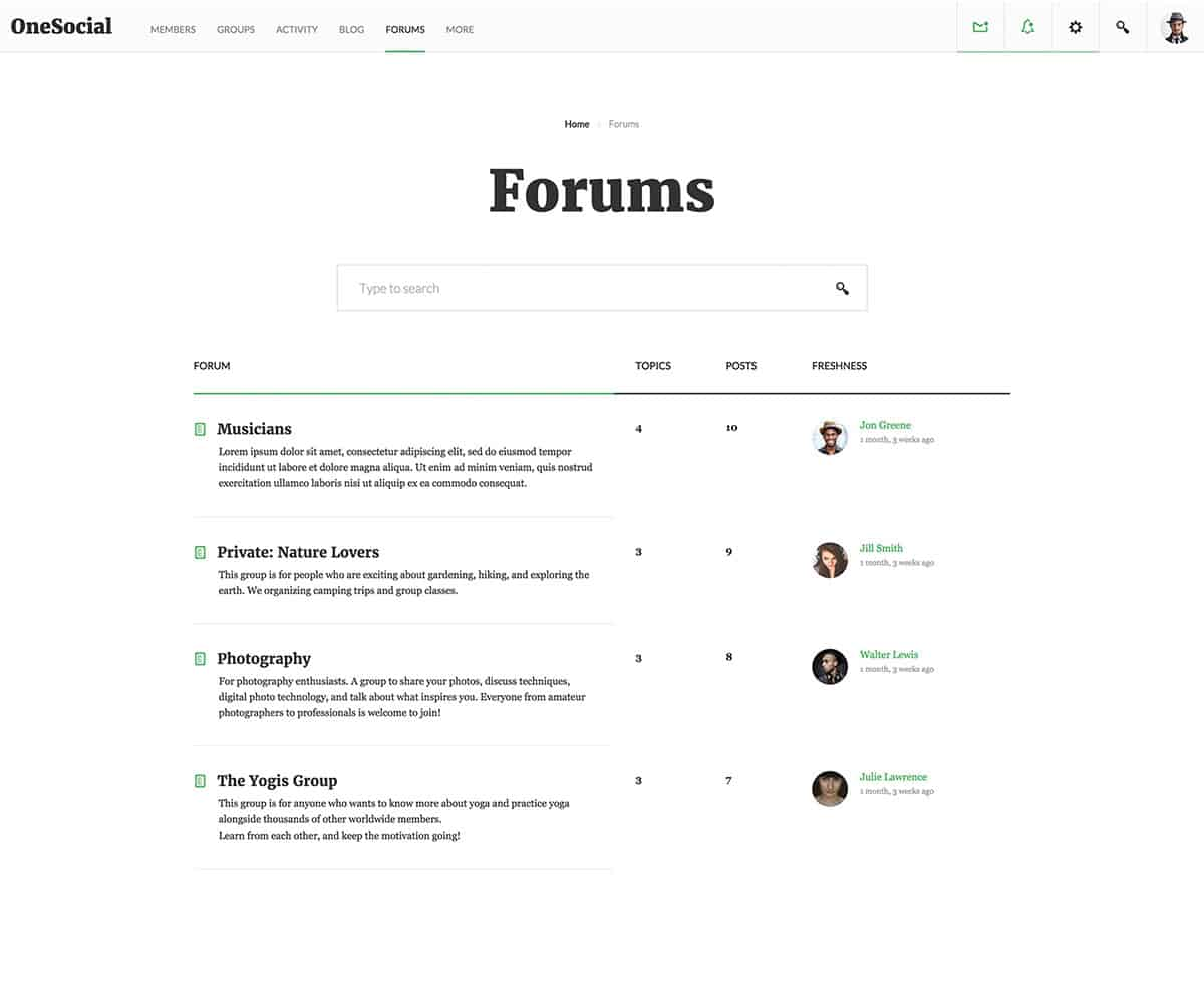 bootstrap forum template 145