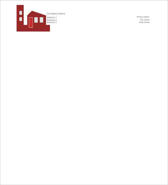 business letterhead template 364