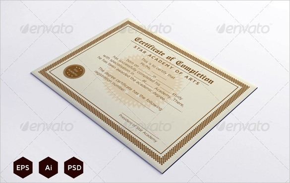 certificaet of completion 264