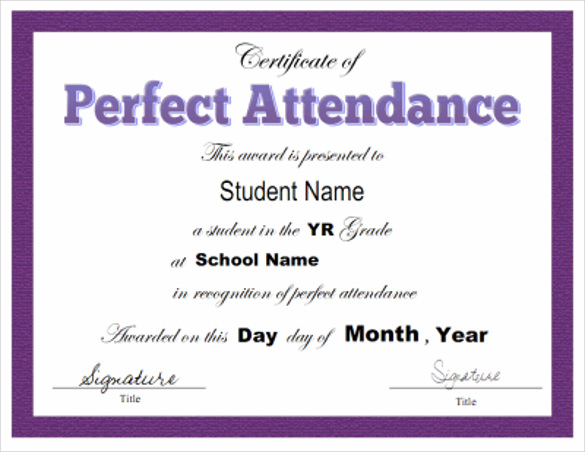 certificate of attendance template 146
