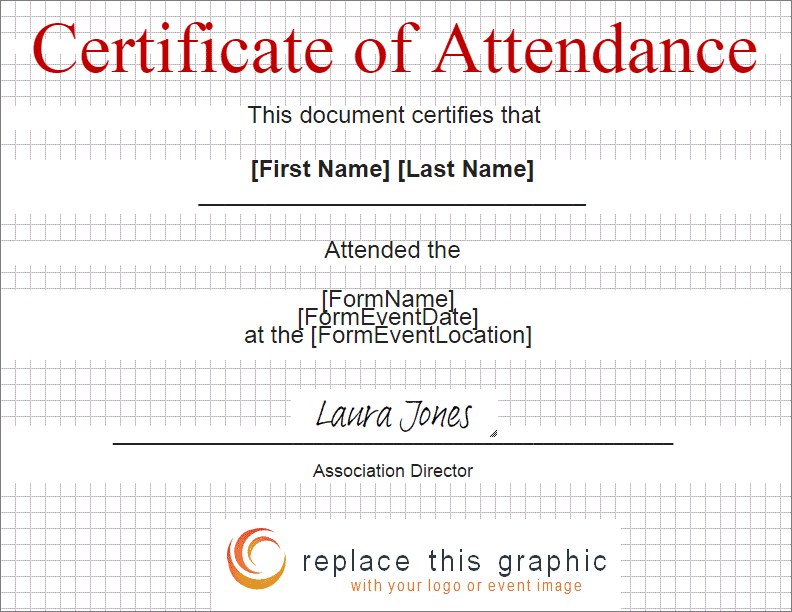 certificate of attendance template 641