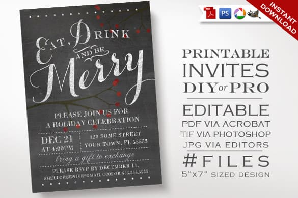 chalkboard invitation template 547