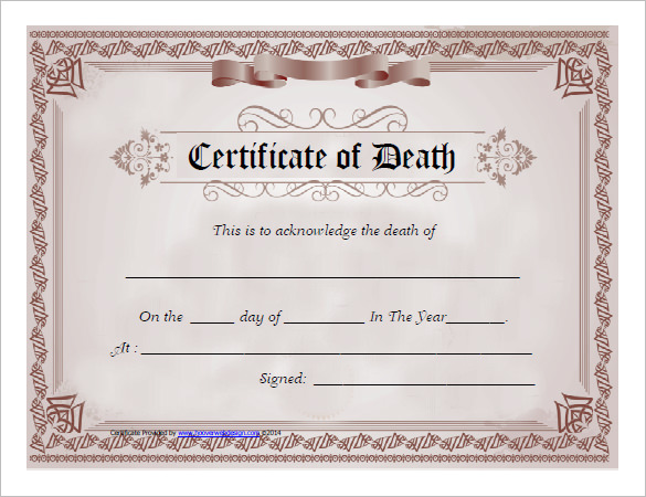 death certificaet template 2641